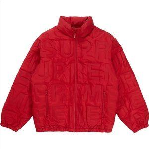 Supreme bonded logo down puffer jacket